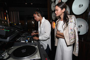 DJ Hannah Bronfman and actress Jamie Chung attend Brancott Estate Flight Song Launch at PHD Lounge at the Dream Downtown on March 12, 2014 in New York City.