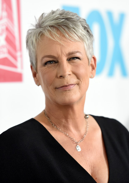 Jamie Lee Curtis Pixie [hair,face,hairstyle,eyebrow,chin,forehead,blond,skin,cheek,wrinkle,arrivals,jamie lee curtis,san diego,california,andaz hotel,20th century fox party,party,comic-con international 2015]
