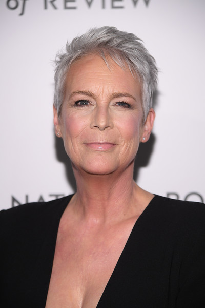 Jamie Lee Curtis Pixie [hair,face,eyebrow,hairstyle,chin,head,forehead,cheek,blond,premiere,arrivals,jamie lee curtis,new york city,cipriani 42nd street,national board of review annual awards gala,national board of review annual awards gala,jamie lee curtis,ncis,celebrity,cathy munsch,actor,chanel oberlin,academy awards,scream queens,new girl]