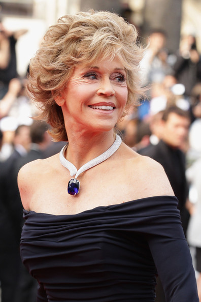 Jane Fonda Diamond Statement Necklace