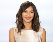 Gemma Chan framed her pretty face with a shoulder-length wavy 'do for her visit to 'The IMDb Show.'