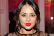 Janel Parrish Red Lipstick
