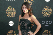 Janel Parrish Strapless Dress
