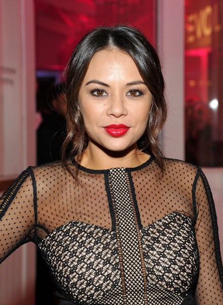 Janel Parrish Loose Ponytail