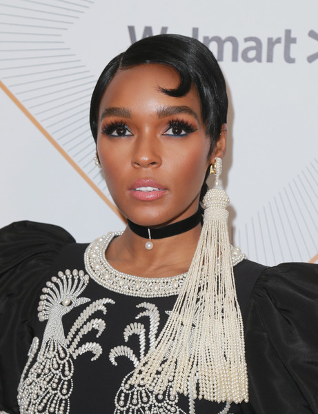 Janelle Monae Pearl Chandelier Earrings [red carpet,hair,hairstyle,eyebrow,black hair,lip,beauty,forehead,fashion,cool,fashion accessory,janelle monae,beverly hills,california,regent beverly wilshire hotel,essence black women in hollywood oscars luncheon]
