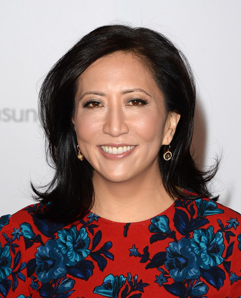 Janice Min Flip [janice min,arrivals,annual women in entertainment breakfast,hair,face,hairstyle,eyebrow,chin,black hair,smile,lip,long hair,neck,beverly hills hotel,california,women in entertainment breakfast,the hollywood reporter]