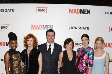 January Jones Elisabeth Moss Arrivals at the 'Mad Men' Premiere Party