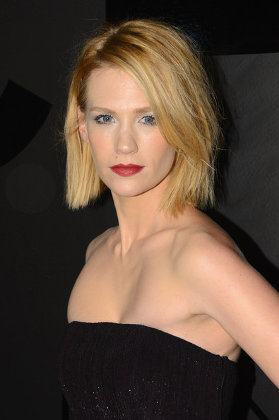 January Jones Red Lipstick [bijoux de diamants collection,hair,face,lip,blond,hairstyle,shoulder,chin,eyebrow,beauty,long hair,january jones,gabrielle chanel,collection,new york city,chanel fine jewelry,chanel fine jewelry celebrates its 80th anniversary,celebration]