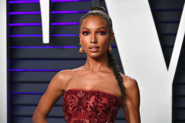 Jasmine Tookes Long Braided Hairstyle