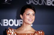 Alicia Vikander attended the 'Jason Bourne' Australian premiere wearing her hair in a slicked-down bun.