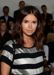 Miroslava Duma wore casual yet cute center-parted waves at the Jason Wu fashion show.
