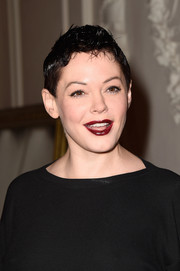 Rose McGowan went punk with this fauxhawk at the Jean Paul Gaultier show.
