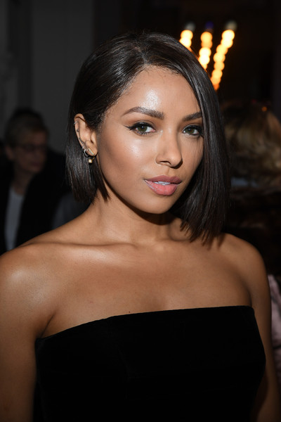 Kat Graham went for a modern and chic asymmetrical bob at the Jean Paul Gaultier Couture show.