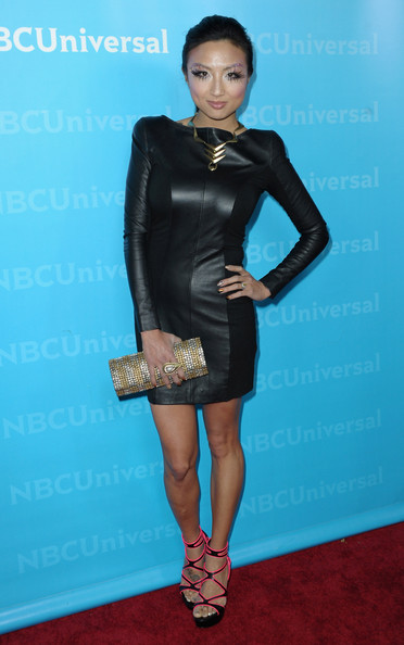 Jeannie Mai Leather Dress