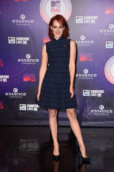 Jena Malone Cocktail Dress [clothing,cocktail dress,dress,fashion model,little black dress,fashion,carpet,premiere,footwear,shoulder,red carpet arrivals,jena malone,the hydro,glasgow,scotland,mtv ema]