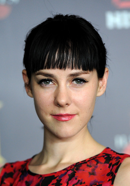 Jena Malone Ponytail [hair,face,hairstyle,eyebrow,chin,bangs,lip,beauty,forehead,black hair,arrivals,jena malone,soho house,west hollywood,california,history channel,pre-emmy party]