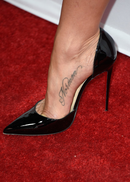 Jennifer Aniston Lettering Tattoo
