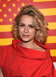 Bethany Joy Lenz styled her hair into a curly bob for the 'Rectify' dinner.