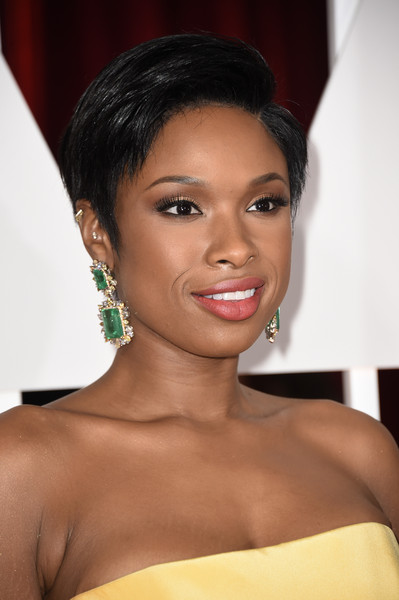 Jennifer Hudson Dangling Gemstone Earrings