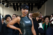 Jennifer Hudson Leather Dress