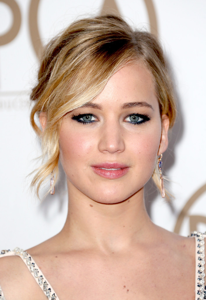 Jennifer Lawrence Messy Updo Jennifer Lawrence Looks