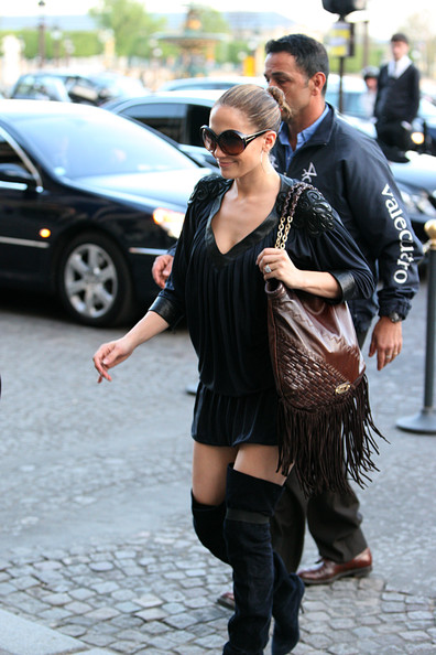 Jennifer Lopez Tasseled Shoulder Bag