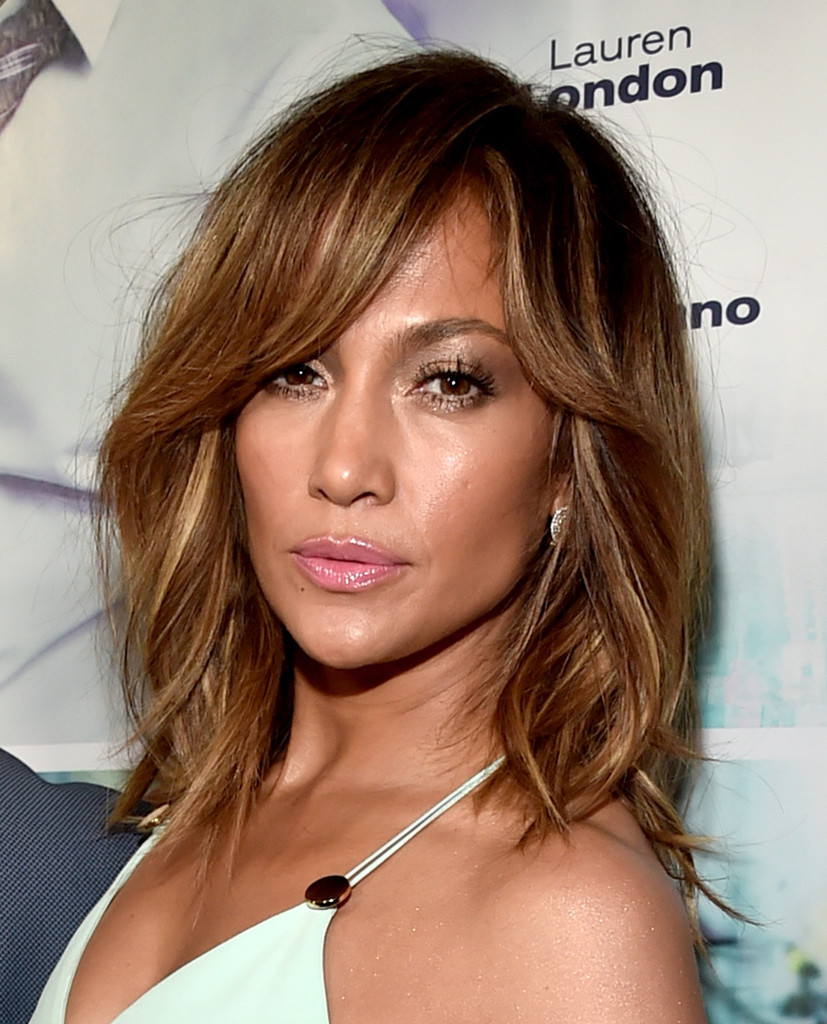 jennifer lopez shoulder length hairstyles looks - stylebistro