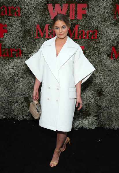 Jennifer Morrison Metallic Purse [instyle max mara women in film celebration,max mara women in film celebration,jennifer morrison,white,clothing,red,fashion,formal wear,dress,robe,premiere,red carpet,fashion design,chateau marmont,los angeles,california,instyle]
