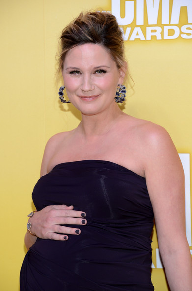 Jennifer Nettles Gemstone Hoops