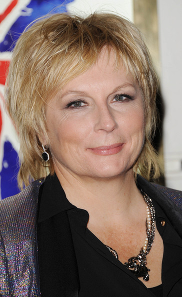 Jennifer Saunders Layered Razor Cut [music,viva forever,hair,face,hairstyle,blond,eyebrow,chin,layered hair,feathered hair,long hair,bangs,viva forever - press night arrivals,jennifer saunders,the spice girls,press,england,london,piccadilly theatre]