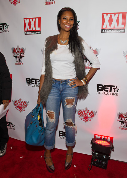 Jennifer Williams Ripped Jeans [master of the mix,clothing,carpet,denim,footwear,outerwear,leg,flooring,thigh,jeans,event,amber rose,and cast celebrate premiere of smirnoff,vikter duplaix,kid capri,jennifer williams,premiere of smirnoff,nyc,celebration]