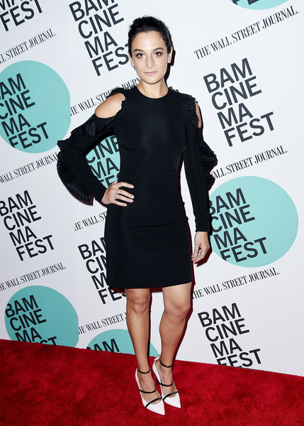 Jenny Slate Cutout Dress [clothing,dress,cocktail dress,little black dress,red carpet,shoulder,premiere,carpet,joint,footwear,jenny slate,landline,new york,bam harvey theater,bamcinemafest 2017,screening,screening]