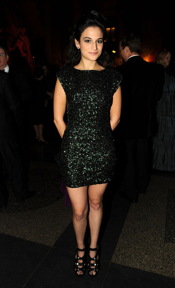 Jenny Slate Sequin Dress [american museum of natural history hosts the museum gala,fashion model,dress,clothing,cocktail dress,shoulder,fashion,little black dress,joint,leg,neck,jenny slate,american museum of natural history,new york city,snl,museum gala]