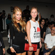 Paris and Nicky Hilton at Jeremy Scott