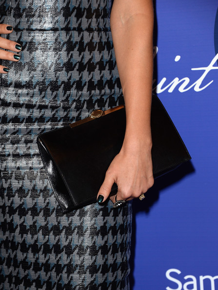 Jessica Alba Leather Clutch
