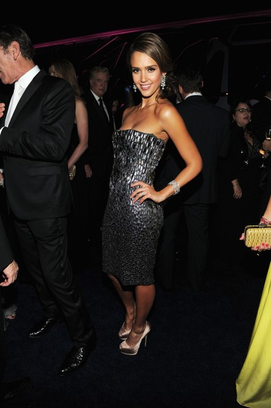 Jessica Alba Beaded Dress