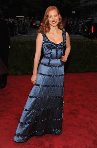 Jessica Chastain Corset Dress