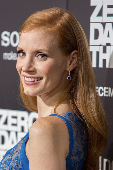 Jessica Chastain Long Side Part