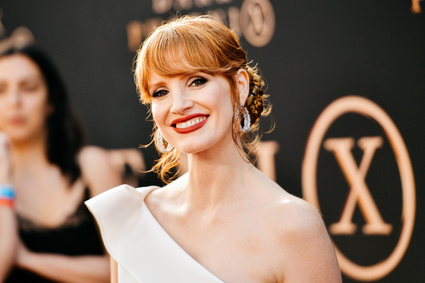 Jessica Chastain Braided Bun