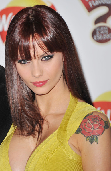 Jessica-Jane Clement Flower Tattoo
