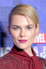 Rachael Taylor looked sharp wearing this sleek side-parted updo at the New York premiere of 'Jessica Jones' season 2.