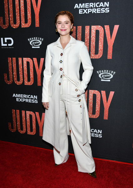 Jessie Buckley Wool Coat [red carpet,clothing,carpet,suit,premiere,flooring,pantsuit,outerwear,formal wear,style,arrivals,judy,jessie buckley,la premiere of roadside attraction,la,beverly hills,california,samuel goldwyn theater,premiere]