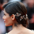 Freida Pinto's Brooch-Covered Strands