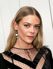 Jaime King was hippie-glam with her center-parted 'do at the Jill Stuart fashion show.