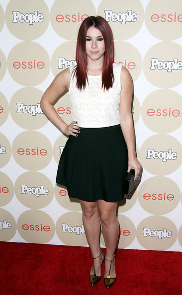 Jillian Rose Reed Mini Skirt [ones to watch,clothing,dress,cocktail dress,footwear,fashion,shoulder,hairstyle,premiere,carpet,waist,people,jillian rose reed,party - arrivals,ones,watch party,hinoki the bird,california,los angeles]
