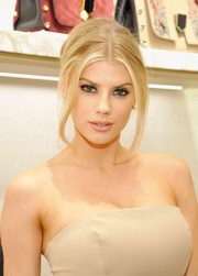 Charlotte McKinney attended a Delete Blood Cancer event wearing her hair in an elegant beehive.
