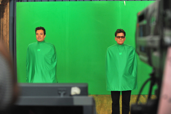 """Charlie Sheen Visits """"Late Night With Jimmy Fallon"""""""