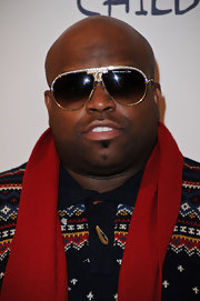 Cee-Lo Green paired his cozy winter sweater with gemstone encrusted aviator shades.