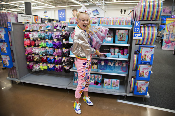 JoJo Siwa Print Pants [supermarket,convenience store,retail,product,building,grocery store,customer,shelf,toy,shopping,consumer products,jojo siwa celebrates her birthday,ar and unveils her new consumer products,walmart in rogers,ar,new line,nickelodeon,walmart,birthday]