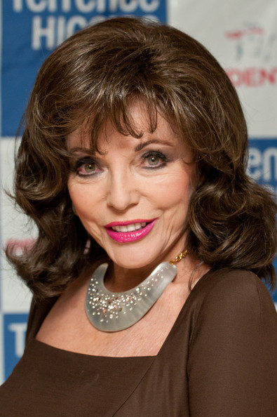 Joan Collins Gemstone Collar Necklace [hair,face,hairstyle,eyebrow,chin,blond,layered hair,lip,brown hair,hair coloring,joan collins,king street,london,england,christies,lighthouse gala auction]